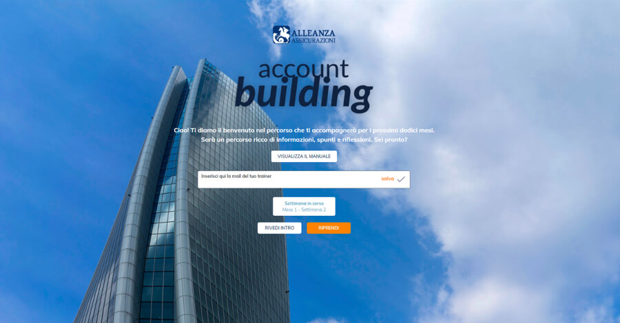 Alleanza account building
