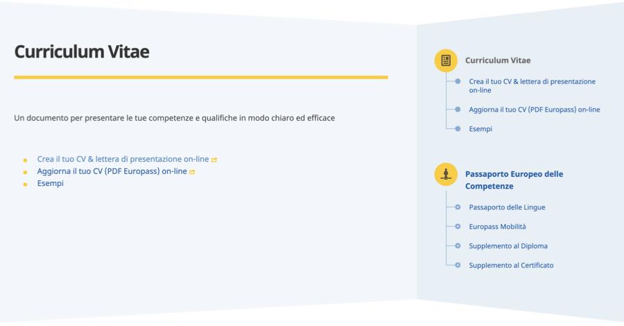 Curriculum Vitae Europeo Come Usarlo